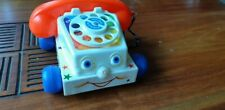 Fisher Price chatter telephone vintage des années 80 jouet ancien