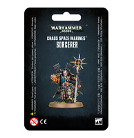 Chaos Space Marines Sorcerer - Warhammer 40k - Brand New! 43-69C