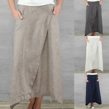 Summer Womens Plus Size Long Gypsy Maxi Skirts Ladies Jersey Casual Cotton Dress