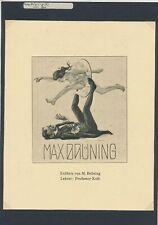 EX20056 EX Libris MAX BRUMING 1910 acrobats fine l