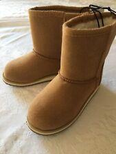 Nwt!Girls Size 9 Wonder Nation Faux Fur Comfort Sock Girl's Boots Brown Chestnut
