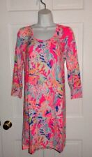 NWT LILLY PULITZER TIKI PINK SUNKEN TREASURE DEVON A-LINE DRESS XL
