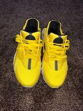 Size 4 Youth NIKE Huarache Run (GS) Sneakers Yellow/ Grey/ White Kids Boys