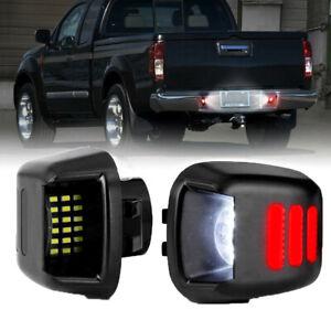 2X LED License Plate Light For Nissan Frontier Navara D40 2007-2019 Titan 07-15
