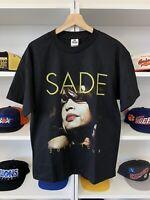 Vintage Sade Tour Shirt Sz M Rare Pop Soul Rnb Music Concert 2011 Black Rap