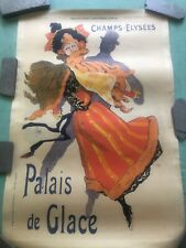Original Lithographic Jules Cheret French Poster Palais De Glace small version