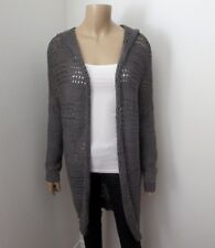 Hollister Womens Knit Hooded Duster Cardigan Size XS/S Gray