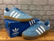 ADIDAS MENS UK 9 EU 43 1/3 BROOMFIELD SUEDE TRAINERS BLUE WHITE GOLD RRP £75 M