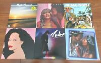 Lot of 6 DISCO Vinyl LPs VG-VG+ PEACHES & Herb Donna Summer VILLAGE PEOPLE +more