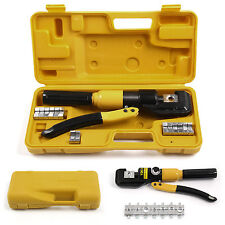 8T Hydraulic Crimper Tool Kit Tube Cable Wire Crimping  Terminals Lugs Battery
