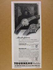 1945 Tourneau Chronograph & Tournograph watches vintage print Ad