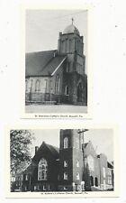 PA Boswell Pennsylvania Lot of 2 Lutheran & Catholic Church Somerset County PC