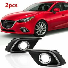 Pair Front LED DRL For Mazda 3 Axela 2014 2015 Daytime Running Light Fog Lamp