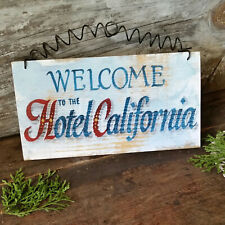 Welcome to the Hotel California * Wood Sign *  USA * DecoWords * Indoor Decor