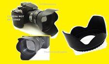 FLOWER HOOD+UV FILTER+LENS CAP 58mm AptTo CAMERA NIKON PENTAX TAMRON 28-80 mm