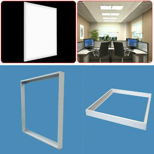 Surface Mount Frame Kit 600x600 mm LED Panel Light Ceiling Aluminum Finish White