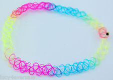 3pcs Rainbow Vintage Stretch Tattoo Choker Necklace Retro Gothic Punk new