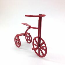 Miniature Red Tricycle Child Bike for Dollhouse/Shadow Box Crafts
