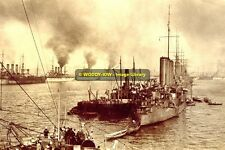 rp9023 - Warships in Gibraltar Harbour 1909 - photo 6x4