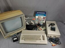 Commodore 64 - 1802 Monitor - 1541 Disk Drive - Extras - Works Great