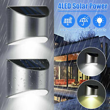 2x Super Bright Led Energia Solar Luzes De Parede Porta cerca Jardim iluminação ao ar livre
