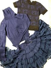 set 5 6 7 8  110 116 JOTTUM purple TUTU SKIRT THIRZA TULLE top sweater knitted