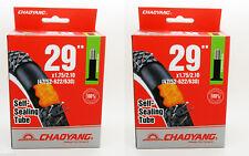 """2x Camara Antipinchazos Rueda de Bicicleta de 29 """" Valvula Schrader MTB BBT 3216"""