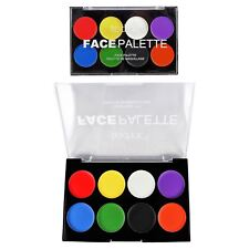 Face Paint Palette Red Black White Green Face & Body Paint Cream Fancy Dress