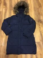 GapKids Girls Fully Padded Jacket With Fur Trim Hood Aged 10-11 Years Old