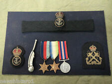 #LL.  WWII  BRITISH  NAVY  MILITARIA COLLECTION, MEDALS etc