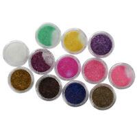 12 Colori Polvere Acrilica Glitter Nail Art Unghie Decorazione D3V8