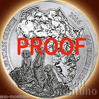 2016 Rwanda MEERKAT PROOF 1oz Silver African Wildlife Coin ONLY 1000 MINTED
