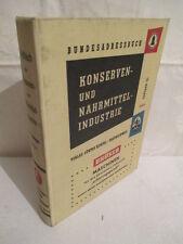 Bundes-adressbuch Konserven und Nahrungsmittelindustrie 1964