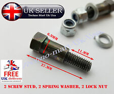 UNIVERSAL MOTORCYCLE CLUTCH & BRAKE LEVER NUT BOLT FIXING PAIR