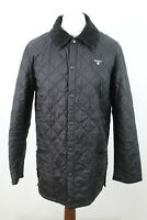 BARBOUR Black Quilted Jacket size M BS