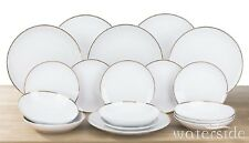 18pc Dinner Set Plates Bowls Dinnerware Crockery Dining Service for 6 Goldline