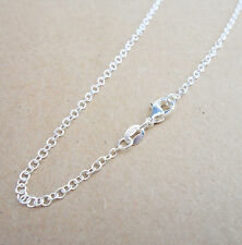 Wholesale jewelry 1PCS 24 inch 925 Sterling Silver Plated Rolo Chain Necklaces