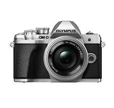 Olympus EM10 Mark III 14-42mm Silver Kit Mirrorless Camera w/ Case & SD Card