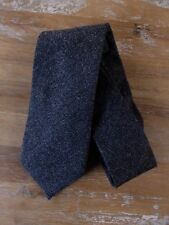 auth DRAKE'S Drakes of London dark gray 100% cashmere tie - NWOT