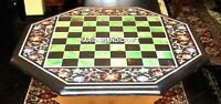 """24"""" Marble Coffee Table Floral Multi Stone Inlay Marquetry Garden Decorate H4593"""
