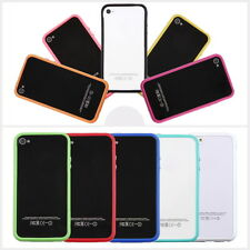 TPU Silicone Frame Bumper Hard Case Cover Skin for iPhone 4G 4S TE