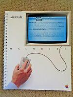 Vintage Apple Macintosh MacWrite Instruction Manual Booklet 1984 Computer Mac
