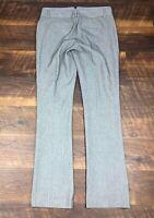 Express Black Tweed Stripe Slim Bootcut 4R Trousers Career Women's Dress Pants