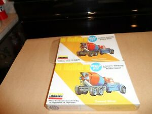LINDBERG VINTAGE HO SCALE HIGH ROLLER CEMENT MIXERS LOT OF 2 N.I.B.