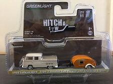 Greenlight 1/64 Volkswagen Double Cab Pickup & Teardrop Trailer Hitch & Tow S10