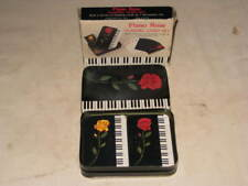 New Vintage 1992 PIANO ROSE 2 Decks of Playing Cards & Decorative Tin MSR Import