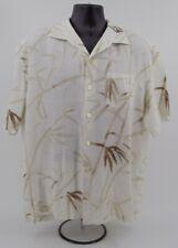 EUC! Tommy Bahama Men's Short Sleeves Button Front Linen Shirt XL White Bamboo