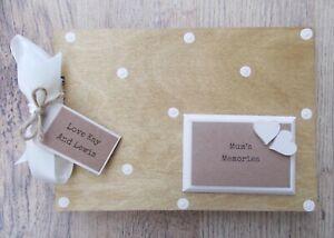 Personalised Mums Memories Wooden Scrapbook Photo Album Guest Book Gift