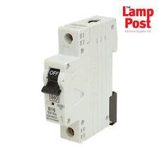 MK 5916s - MK ELECTRIC 16A 16 Amp SP MCB Miniature Circuit Breaker Fuse