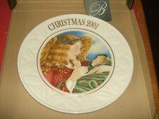 Belleek fine parian china 2001 Christmas Plate MIB  Angel Of Love